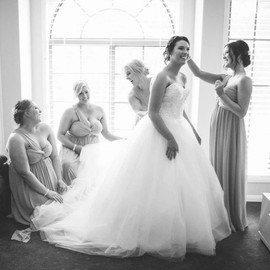 Hair for Rachael and her bridal party!.j