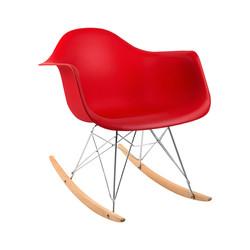 cadeira balanço vermelha