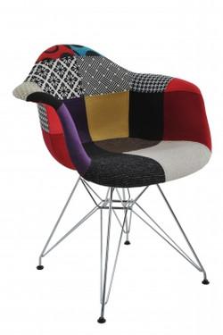 cadeira com braço patchwork