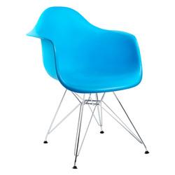 cadeira com braço azul