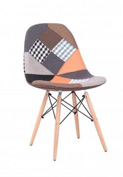 cadeira sem braço patchwork