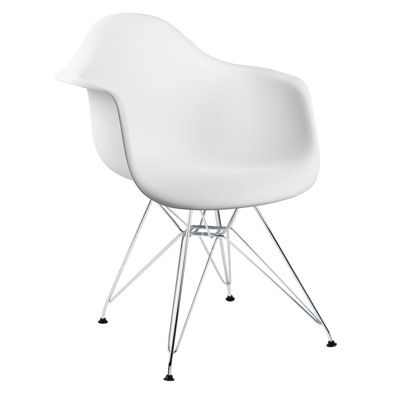 cadeira com braço branca