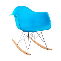 cadeira balanço azul