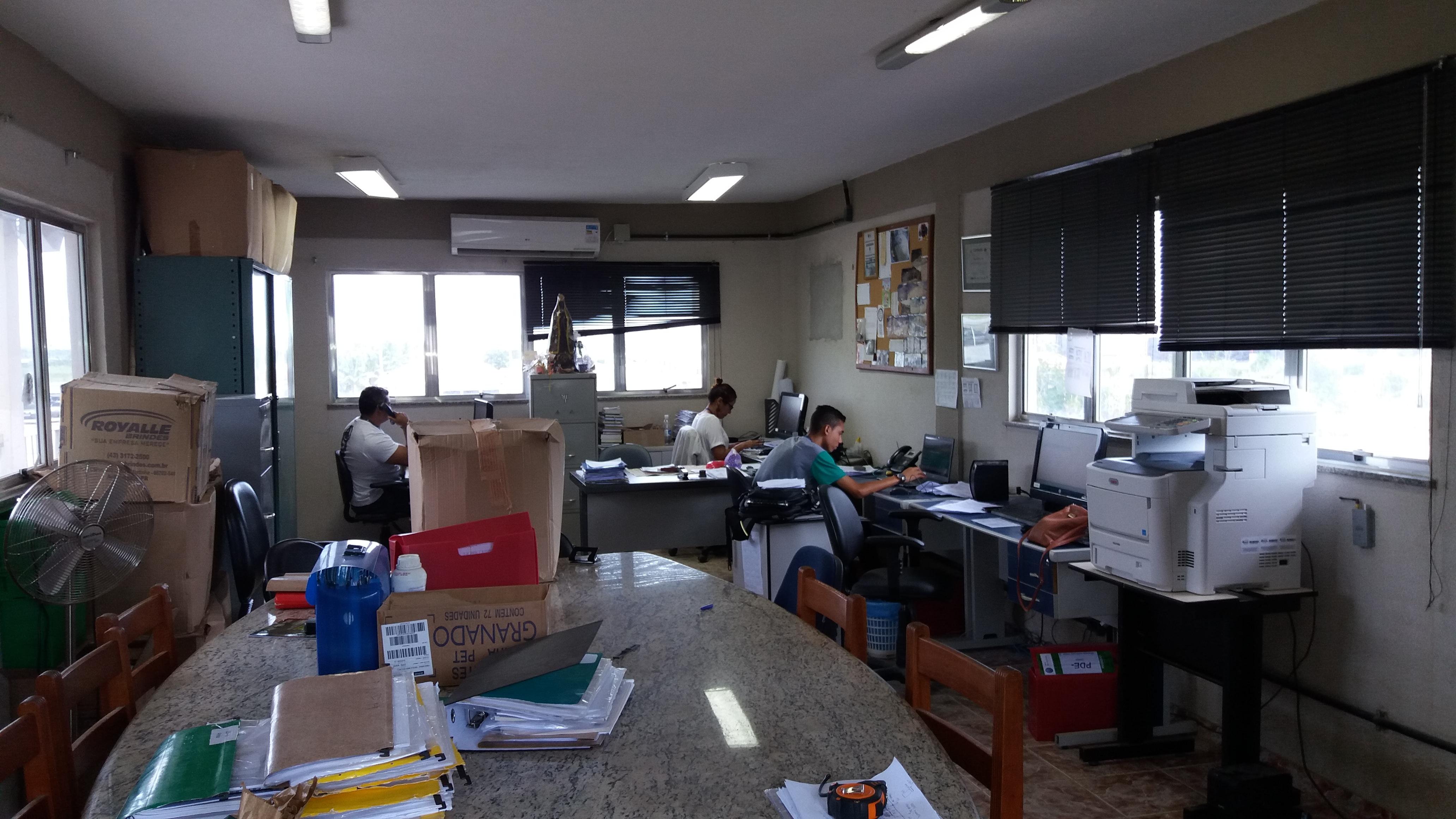 Sala como era antes do projeto/obra