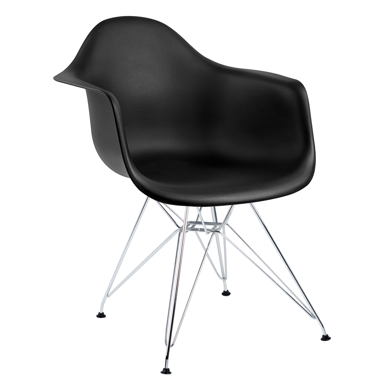 cadeira com braço preta