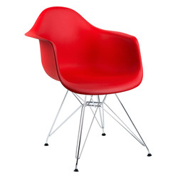 cadeira com braço vermelha