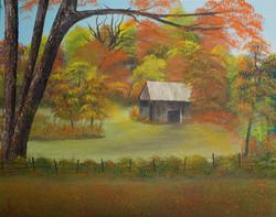 Hay Barn in the Meadow
