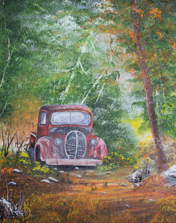 Old Truck in Woods