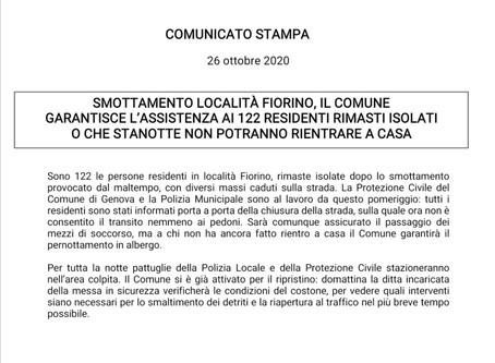 #SkylabNEWS Fiorino, smottamento isola 122 persone