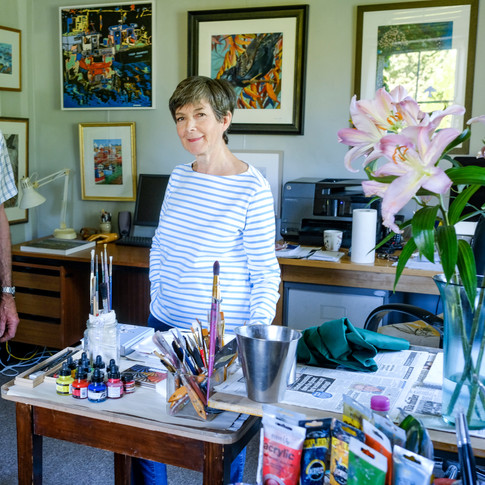 Colin and Sandra in their studio