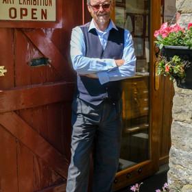 Chris invites visitors into his Levisham Station studio