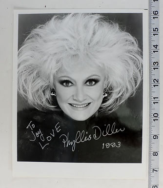 B&W 8x10 Photo Phyllies Diller