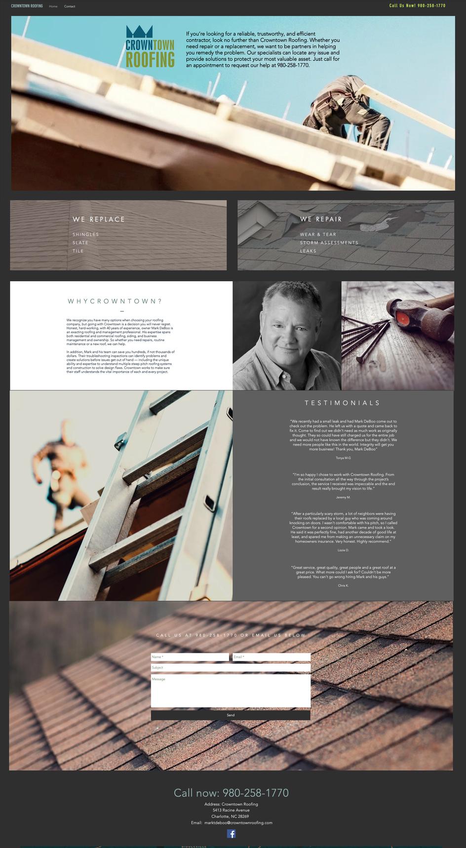 Crowne Town Roofing Website