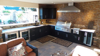 Custom Werever Outdoor Kitchen w/ Stainless Vent Hood