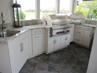 Werever Outdoor Kitchen w/ Custom Backsplash