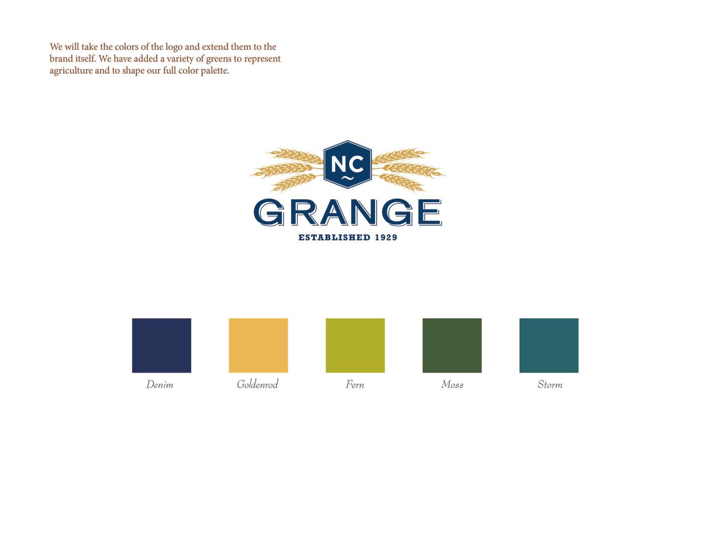 Grange Final Logo and Color Palette