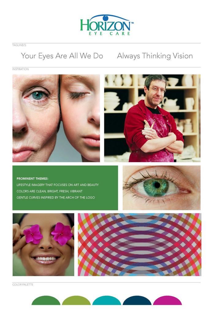 Horizon Eye Care Mood Board 1
