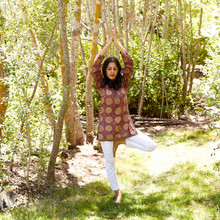 """Tree Pose, as featured in """"The Ayurveda Way"""""""