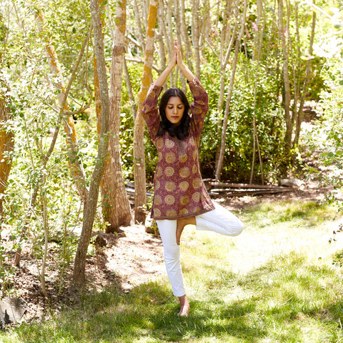 "Tree Pose, as featured in ""The Ayurveda Way"""