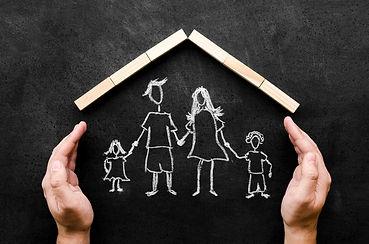 vue-dessus-dessin-craie-parents-leurs-en