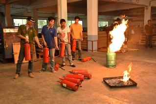 การฝึกซ้อมดับเพลิงประจำปี 2560