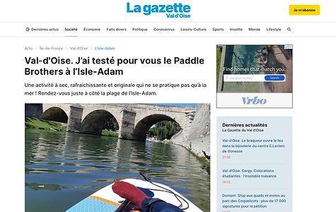 article, picture of foot on a paddle board, writing
