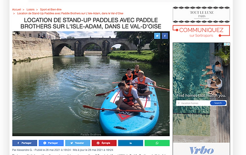 article, picture of people on a paddle board, writing