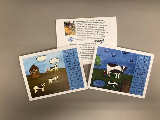 SN Coburn Cows notecards
