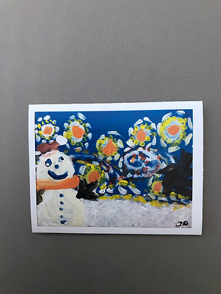 JB Starry Night Snowman