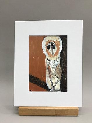 JB Brown Owl print