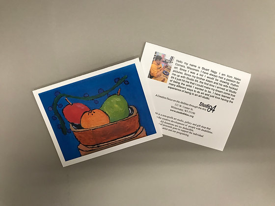 SN Basket of Fruit notecards