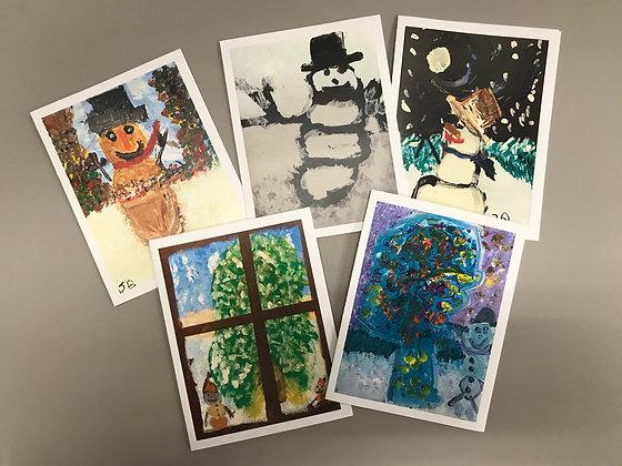 JB Holiday Snowmen notecards