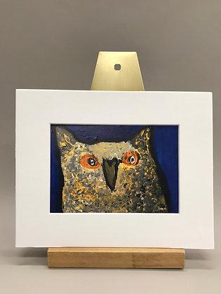 JB Orange Eyed Owl print