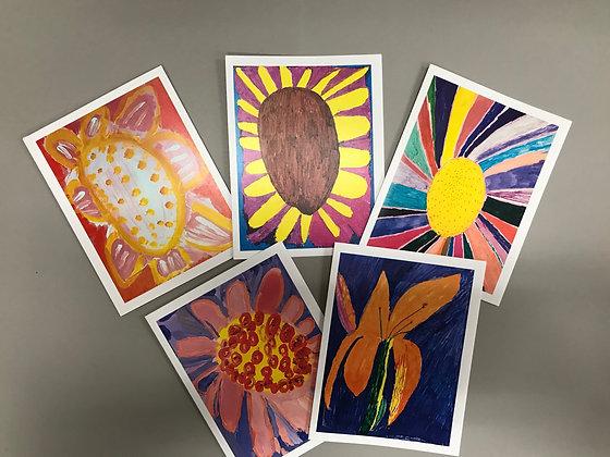 DF Flowers notecards