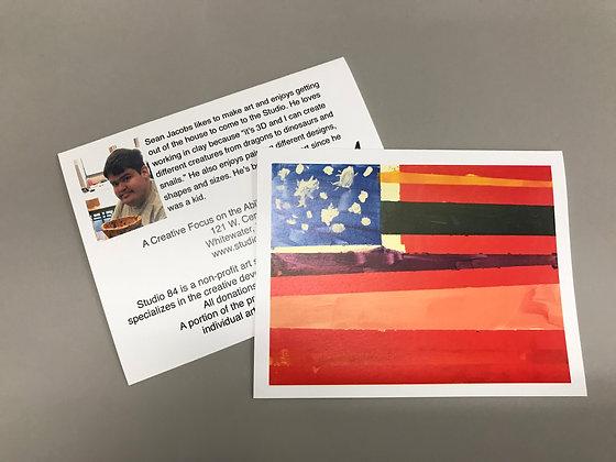 SJ Flag notecards