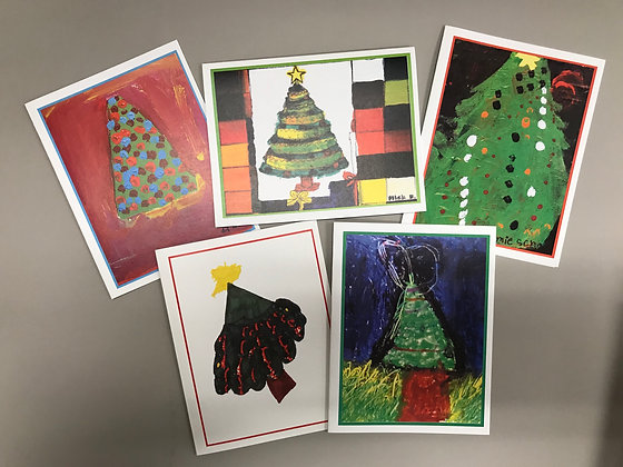 S84 Holiday Trees notecards