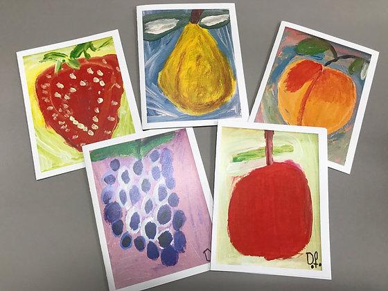 DF Fruit notecards