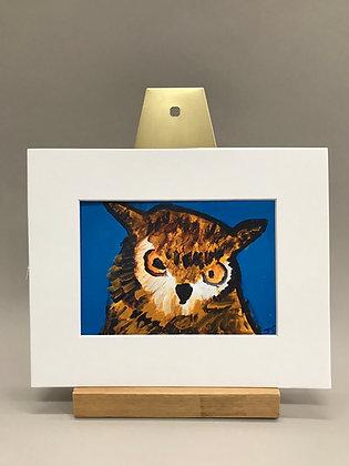 JB Serious Owl print 8x10