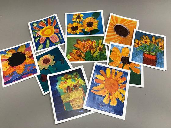 S84 Sunflower notecards