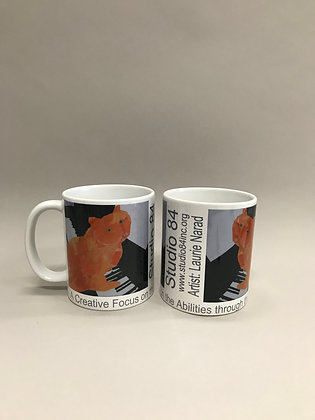 LN Piano Cat mug