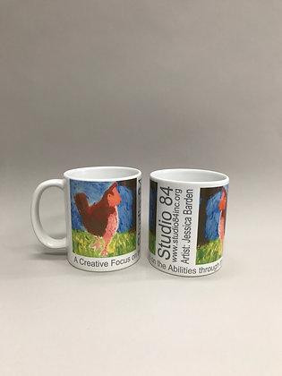 JB Red Chicken mug