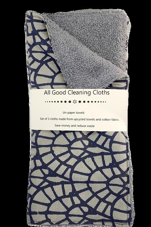 All Good Cleaning Cloths - Unpaper Towels Grey