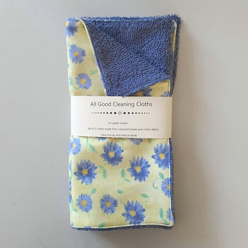 All Good Cleaning Cloths - Unpaper Towels Denim Blue