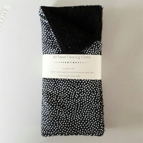 All Good Cleaning Cloths - Unpaper Towels Black Dot