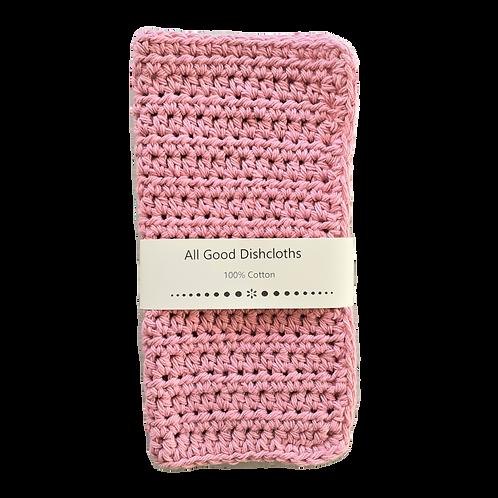 All Good Dishcloth - Rose Pink