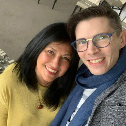 Mónica Pooley  and Marek Wardęcki