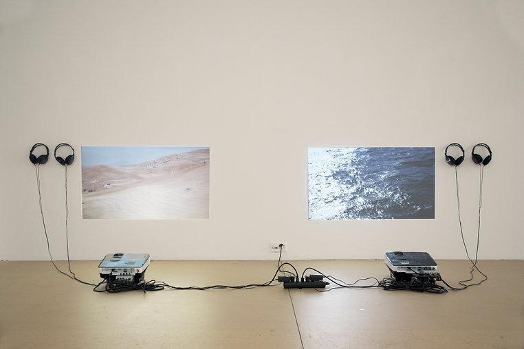 Videoinstallation, Zweikanal, Algerien, Ausstellung