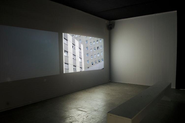 Videoinstallation, Zweikanal, Ausstellung, Luzer