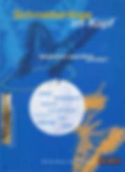 """Blaues Buchcover mit Schmetterlingen, weiße und orangefarbene Schrift: """"Schmetterlinge im Kopf - Mannheimer Jugendliche schreiben, Mit freundlicher Unterstützung von DUDEN"""""""