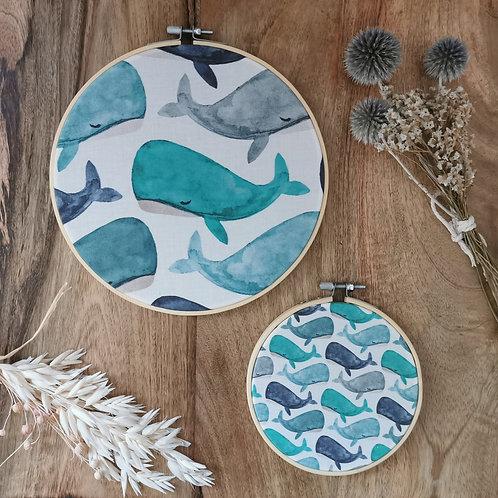 Décoration murale enfant collection Mes jolies baleines